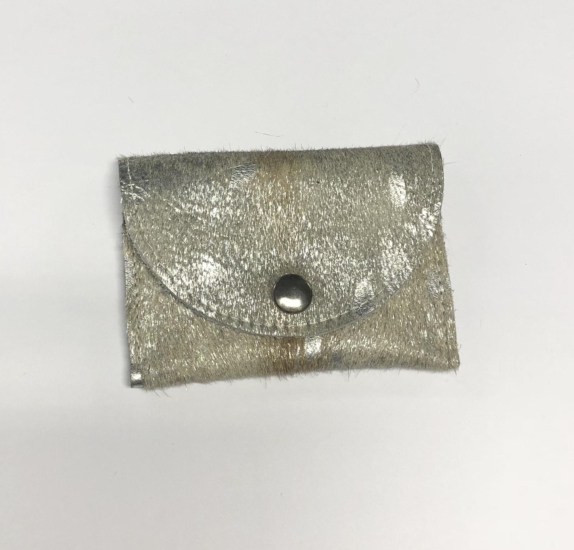Portemonnee Koeienprint.Een Unieke Portemonnee Vacht Zilveren Koe Puurlijk